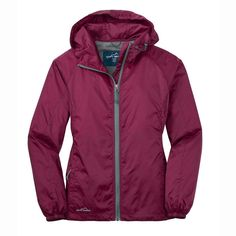 Eddie Bauer Women's Black Cherry Packable Wind Jacket