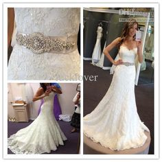Wholesale 2013 New Arriva Strapless Strapless A-line Crystal Sexy Lace Pearl Belt Wedding Dress Bridal Gown Evening Bride Wedding Dresses, $147.73/Piece | DHgate