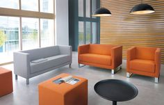 Vancouver Lite seating range by Profim. Reception Seating, Floor Seating, Soft Seating, Soft Flooring, Flooring Options, Reception Furniture, Outdoor Furniture Sets, Sofas, Living Room