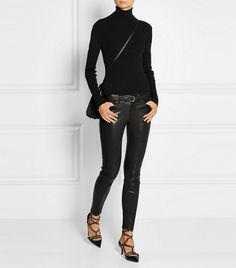Frame Denim Le Skinny Stretch-Leather Pants