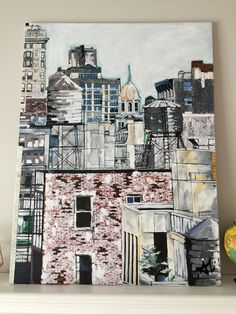 New York City Rooftops  36x48 600$