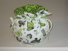 Butterflies on White Reversible Teapot Cosy by CosyKozees on Etsy, $16.99