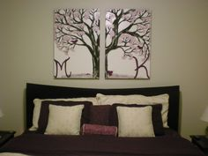 Artwork I made for my friends' Mark and Kari master bedroom