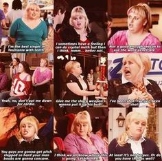 Pitch Perfect. I love this movie it's aca-amazing! Fat Amy (Patricia) rocks!