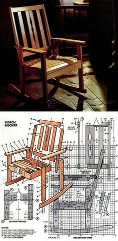 Solid Oak Rocking Chair Plans - Furniture Plans and Projects | WoodArchivist.com #woodworkingbench #woodworkingplans