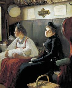 At Parents' House - Leonid Pasternak 1891