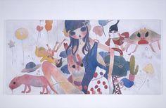 Aya Takano, Art Is Dead, Superflat, Macbook Wallpaper, Funky Art, 3 Arts, Pretty Art, Doll Face, Love Art