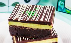 Mint Medley and Chocolate Ganache Brownies recipe