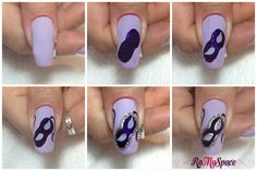 Carnevale Nail art - step by step pollice Beach Nail Art, Beach Nails, Mardi Gras, Sweet 16 Masquerade, Nailart, Nail Art Pictures, My Nails, Nail Designs, Polish