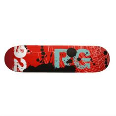 Patineta RED WEB & BLACK INK (Customize)