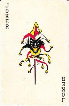 Dale Playing Cards black devil head joker