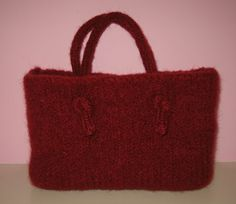 knitted felted gift bag