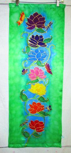 MADE TO ORDER Lotus Chakra wall hanging by HeavenOnEarthSilks