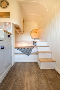 Interior of cool camper van conversion at www.thismovinghouse.co.uk More