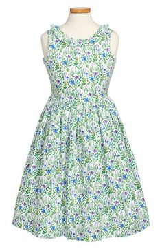 Oscar+de+la+Renta+'Meadow+Floral'+Sleeveless+Party+Dress+(Little+Girls+&+Big+Girls)+available+at+#Nordstrom