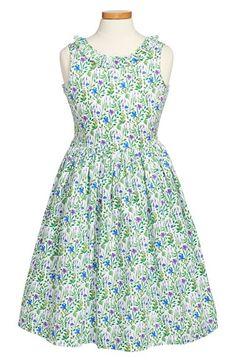 Oscar+de+la+Renta+'Meadow+Floral'+Sleeveless+Party+Dress+(Little+Girls+&+Big+Girls)+available+at+#Nordstrom