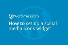 Find out how to set up the social media icons widget on your WordPress.com or Jetpack-enabled WordPress site to show your social media network accounts for your visitors.