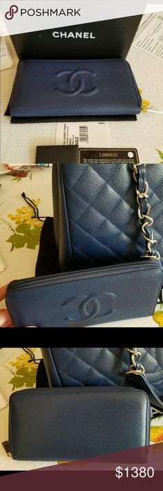 5a93b3c2314d CHANEL Caviar CC Large Gusset Zip Around Wallet Guarantee this is an authentic  CHANEL Caviar CC