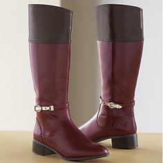 Garnet and gold riding boots.may need these this fall. My last pair lasted two winters so I think it's time! Burgundy Shoes, Garnet And Gold, Cute Boots, Riding Boots, Autumn Fashion, Pairs, My Style, Heels, Leather