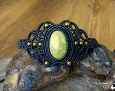 macrame tribal bracelet for gypsy hearts and bohemian by QuetzArt