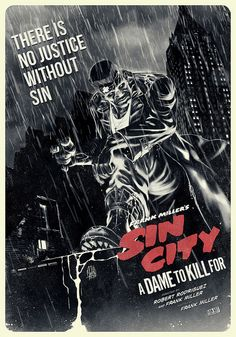 Sin City - A Dame To Kill For l a disjointed and utterly pointless sequel that brings nothing new to the table and at the same time retreading the visual from a decade ago and almost sullies the incredible first entry. They should have left it alone Frank Miller, Sin City Comic, 8k Tv, Non Plus Ultra, Superhero Poster, Cinema Posters, Alternative Movie Posters, Movie Poster Art, Great Movies