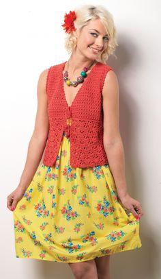 Shell crochet waistcoat - FREE Let's Knit crochet pattern!
