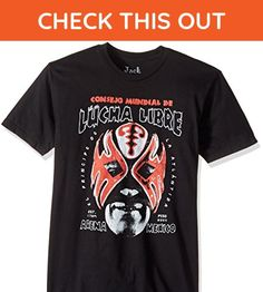 Jack of All Trades Men's Lucha Libre Arena Mexico T-Shirt, Black, Medium - Sports shirts (*Amazon Partner-Link)