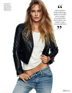 Vu dans ELLE Espana - Mars 2017 - Bar Refaeli porte la veste perfecto en cuir IKKS Women #WomensFashion #ss17