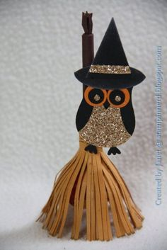 Halloween Broom Sucker Holder