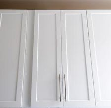 How to add trim to plain cabinets. I want to do this in our kitchen