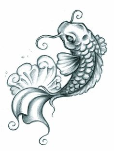 love this koi...would look so cool to have two around my lotus tattoo.