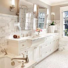 Polished nickel and marble heaven! Homeownership allows you to invest in your own future instead of someone else's. Let me help you make it a reality. Carrie Blue - 949-683-4646 | CBlue@afncorp.com.  #realestate #loanofficer #interiordesign #design #diy #luxury #luxurylifestyle #luxuryhomes #bathroom #marble #bath #fashion #style #wifey #marriage #wedding #home #house #homedecor #remodel #family #kitchen #heaven #countryliving #california #oc #la #sandiego #texas
