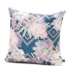 Khristian A Howell Bouquet Throw Pillow In Blue - DENY Designs®