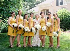 Southern weddings, Southern wedding ideas, Susan Dean, yellow bridesmaid dresses, North Carolina wedding