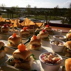 Poseidon Coastal Cuisine's Events - Salmon Sliders and Calamari Appetizers