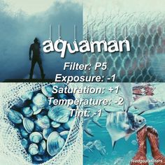 """969 Likes, 21 Comments - was vscocameffects (@feedgoalsfilters) on Instagram: """". ♡ // cool filter for blue stuffs ☄🌊💦inspired by aquaman obv ♡qotp: fav superhero? -- if you have…"""""""