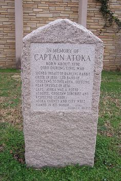 Memorial to Choctaw Indian Captain Atoka by J. Stephen Conn, via Flickr