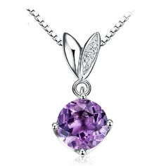 Mother's Jewelry - Amethyst/Topaz 925 Sterling Silver Pendant