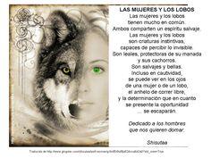 mujer y lobo