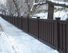 dark gray fence
