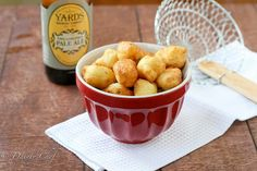 Homemade Tator Tots using NO bread crumbs but rather 4T flour. Use GF.