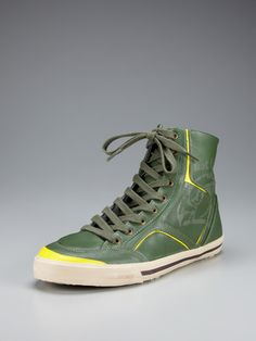 I love these Just Cavalli Leather High Top Sneakers 8eb01288b56