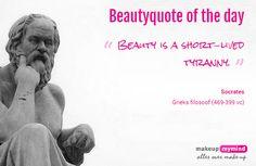 Beautyquote van Socrates op www.makeupmymind.nl