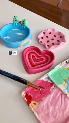 Ceramic Pottery, Pottery Art, Ceramic Art, Clay Art Projects, Cute Clay, Air Dry Clay, Diy Clay, Polymer Clay Crafts, Cute Crafts