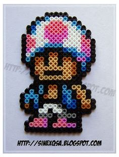 Baby Toad - hama beads