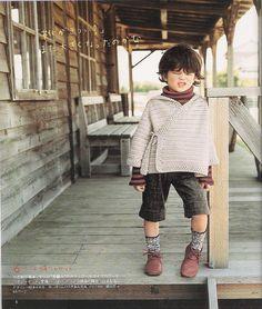 little boy's crochet sweater. CUTE
