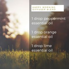 DIY Happy Morning Diffuser Blend - A Good Change