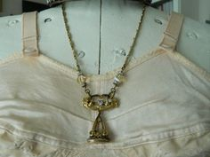 Assemblage Necklace Victorian Watch Fob Belt Buckle by 58Diamond