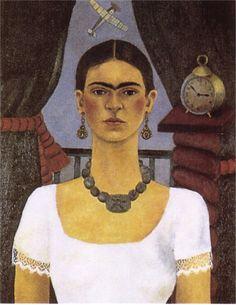 """""""Autoritratto-Il tempo vola"""", 1929. Frida Kahlo."""