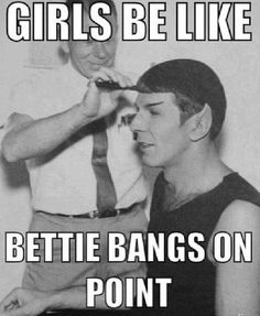 Spock Bettie Page Vintage Hair meme